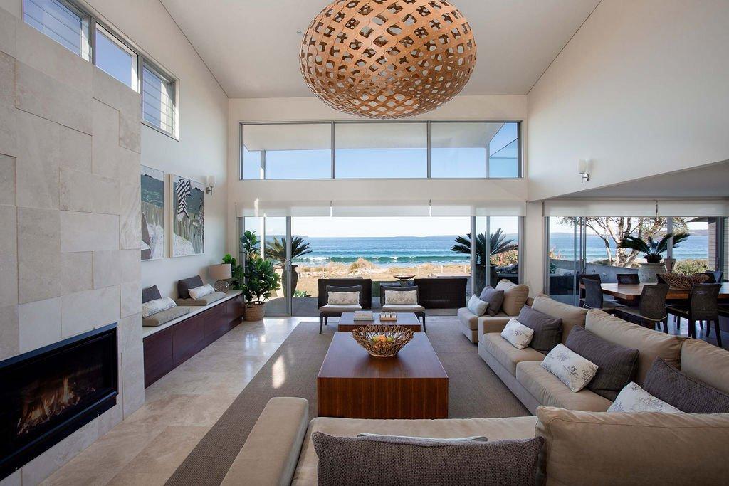 Atra Beachfront Holiday Rental Accomodation Jervis Bay NSW South Coast living room area